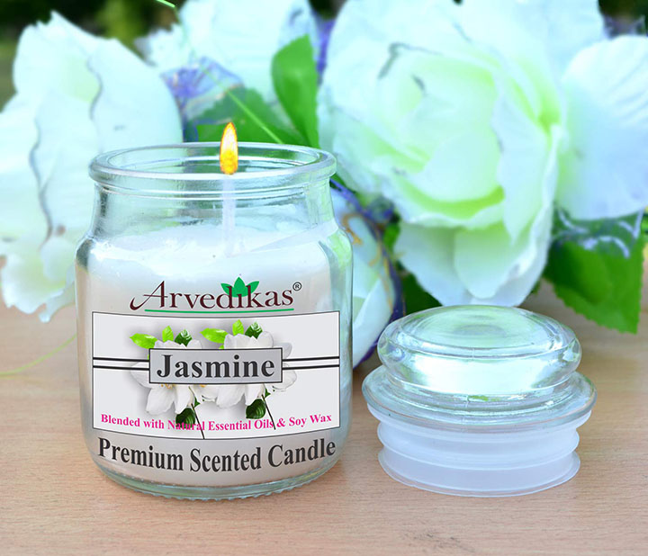 Arvedikas Jasmine Breeze Natural Soy Wax Scented Candle